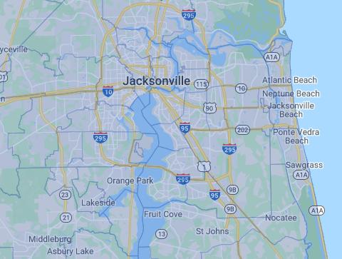 Jacksonville Map