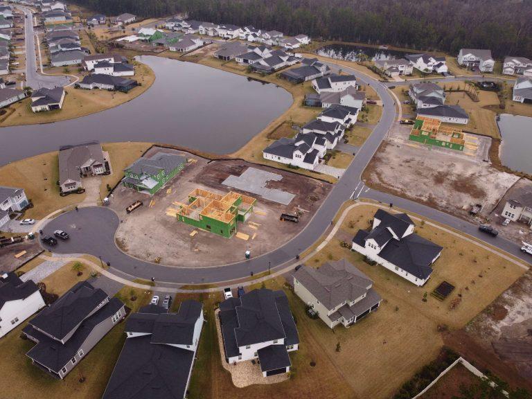 Julington Lakes Construction Drone Picture